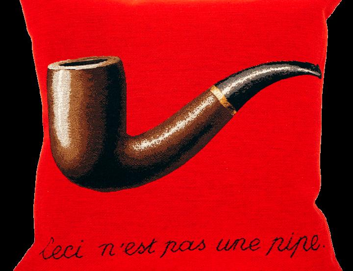 coussin-la-trahison-des-images-magritte-rouge-montreal-quebec